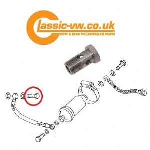 Fuel Pipe ~ Metering Head Banjo Bolt With Filter 048133505
